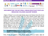 DAY FOUR – Policy Brief: Implementing the National Human Rights Action Plan – Reducing Violence Against Women